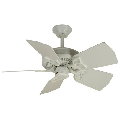 30 Emsworth 5-Blade Ceiling Fan Fan Finish: White