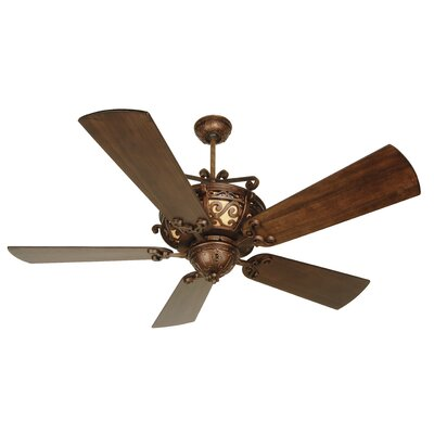 52 Whipkey 5-Blade Ceiling Fan Color: Walnut