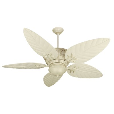 52 Benita 5 Blade LED Ceiling Fan Finish: Distressed Antique White