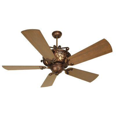 52 Whipkey 5-Blade Ceiling Fan Color: Teak