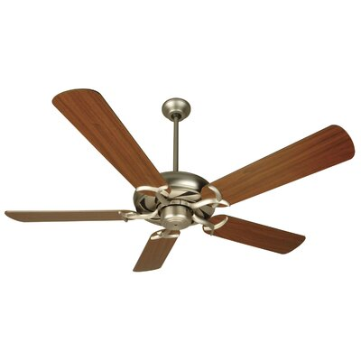 52 Brayson 5 Blade Ceiling Fan Fan Finish: Brushed Nickel with Walnut Blades