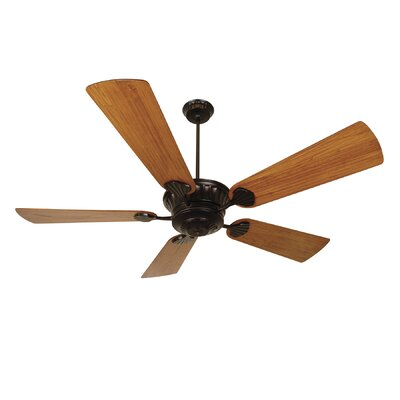 70 Sullivan 5-Blade Ceiling Fan with Remote Finish: Oiled Bronze with Teak Blades