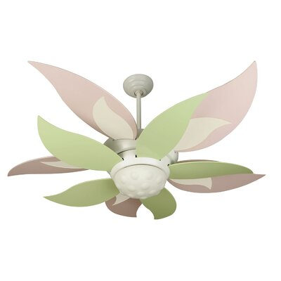 52 Mississippi 5-Blade Ceiling Fan Finish: Pink/Yellow/Green