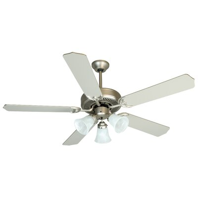 52 Palatine 3 Light 5 Blade LED Ceiling Fan Finish: Brushed Satin Nickel