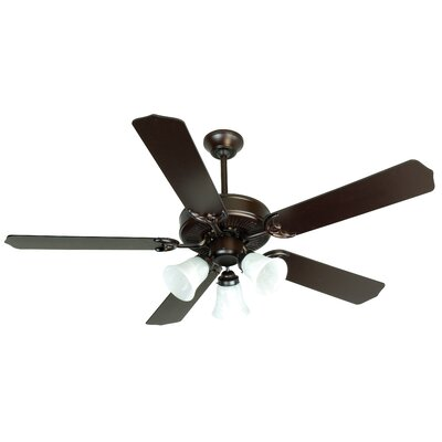 52 Palatine 3 Light 5 Blade LED Ceiling Fan Finish: Oiled Bronze