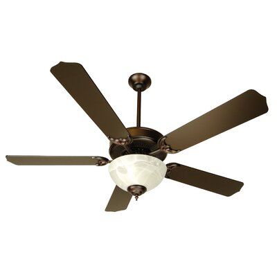 52 Palatine 2-Light 5 Blade Ceiling Fan Fan Finish with Blade Finish: Oiled Bronze with Oiled Bronze Blades