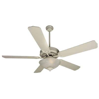 52 Palatine 2-Light 5 Blade Ceiling Fan Fan Finish with Blade Finish: Antique White with Antique White Blades