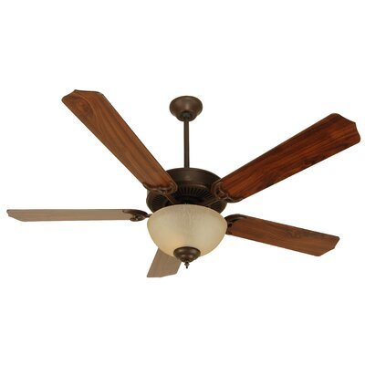 52 Palatine Traditional 5 Blade Ceiling Fan Fan Finish with Blade Finish: Aged Bronze with Walnut Blades
