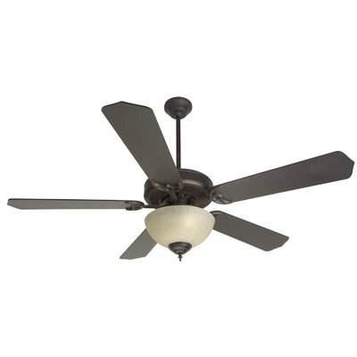 52 CD Unipack 5 Blade Ceiling Fan Fan Finish with Blade Finish: Oiled Bronze with Bronze Blades