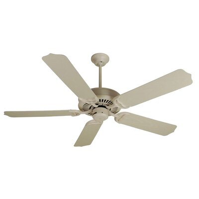 52 Jenkins 5-Blade Ceiling Fan with Downrod Finish: Antique White