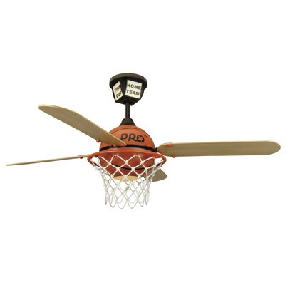 52 Destiney ProStar Basketball 4-Blade Ceiling Fan with Remote