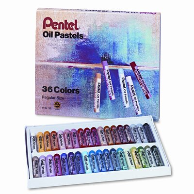 Oil Pastel Set With Carrying Case, 36 PC PENPHN36