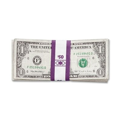 Color-Coded Kraft Currency Straps, Dollar Bill, $50, Self-Adhesive, 1000/Pack Denomination/Amount: $5 Bill/$500