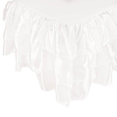 Ruffled Satin Bed Skirt Color: White