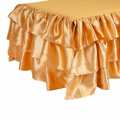Ruffled Satin Bed Skirt Color: Gold