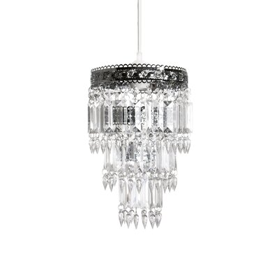 Acrylic/Metal Drum Pendant Shade Size: Small