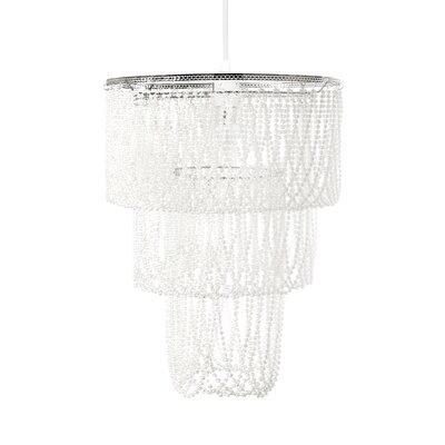 Acrylic/Metal Drum Pendant Shade Size: Large