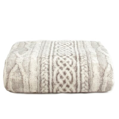 Cable Knit Print Ultra-Soft Plush MicroFleece Blanket Size: Twin