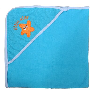 Starfish Newborn Baby Hooded Bath Towel