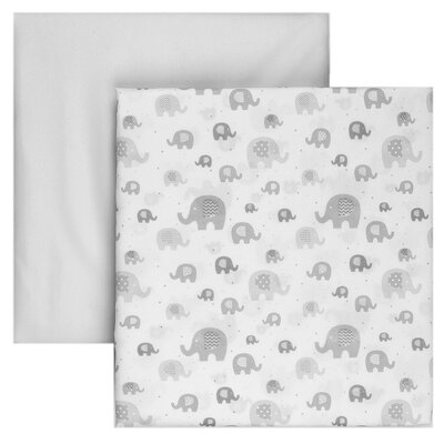 2 Piece Microfiber Fitted Crib Sheet Set