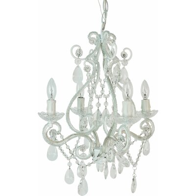 Tadpoles Mini 4 Light Chandelier Finish: White