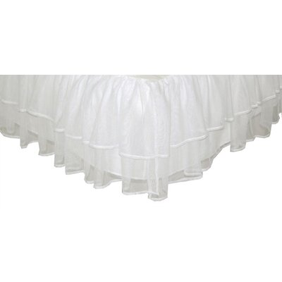 Triple Layer Tulle Bed Skirt Size: Twin