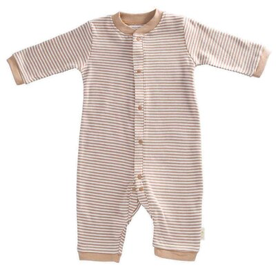 Tadpoles Organic Double Knit Cotton Footless Snap Front Romper in Cocoa - Size: 6 - 9 months at Sears.com