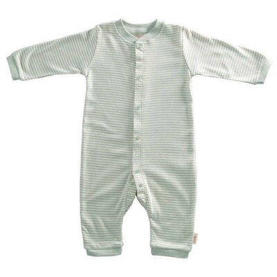Tadpoles Organic Double Knit Cotton Footless Snap Front Romper in Sage - Size: 6 - 9 months at Sears.com