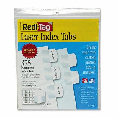 Laser Printable Index Tab, 1 1/8 X 1 1/4, 375/Pack