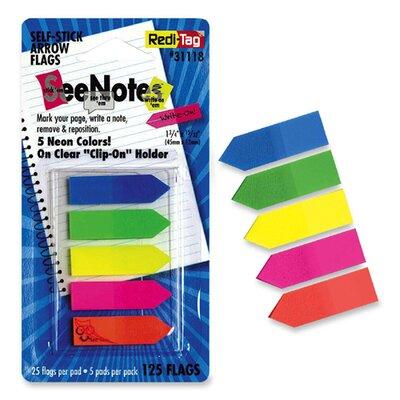 Arrow Flags, 1-3/4x15/32, 125 per Pack, Assorted Colors