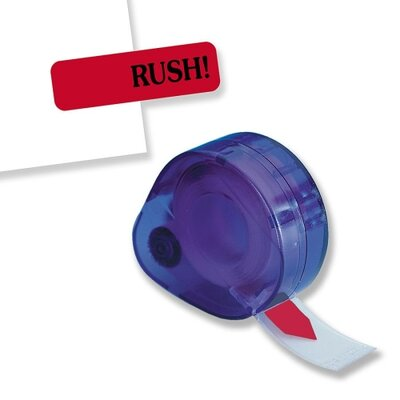 Rush Message Tag, Jumbo, 9/16x2, Red