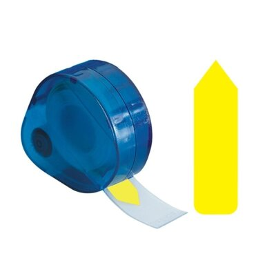 Plain Arrow Tag, Write On, 9/16x1-7/8, Yellow Color: Yellow