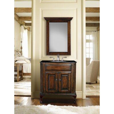 Custom 37 Single Classic/Estate Bathroom Vanity Set Top Finish: Midnight Black, Sink Finish: White