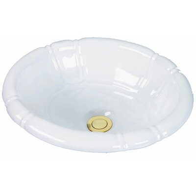 Designer Series Ceramic Oval Drop-In Bathroom Sink Sink Finish: White Porcelain