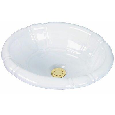 Designer Carlisle Collection Self Rimming Bathroom Sink Sink Finish: White Porcelain