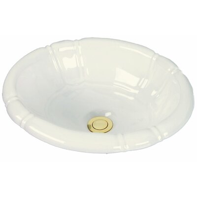Designer Series Ceramic Oval Drop-In Bathroom Sink Sink Finish: Biscuit Porcelain