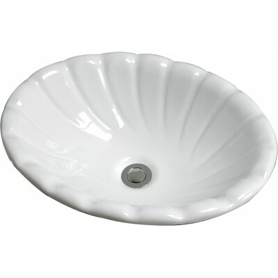 Conventry Self Rimming Bathroom Sink Sink Finish: White Porcelain
