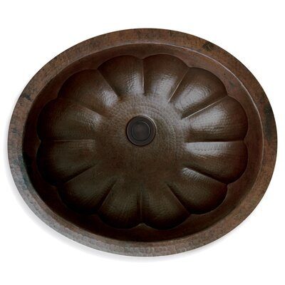 Custom Metal Oval Undermount Bathroom Sink Sink Finish: Scalloped Copper