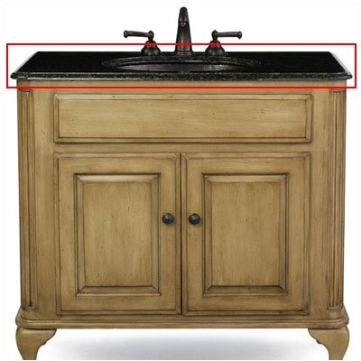 Custom Stone 37 Single Bathroom Vanity Top Top Finish: Sierra Brown