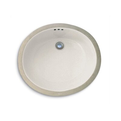 Custom Premier Fairfield Oval Undermount Bathroom Sink Sink Finish: Biscuit Porcelain