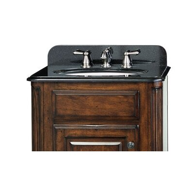 Custom Stone 25 Single Bathroom Vanity Top Top Finish: Midnight Black