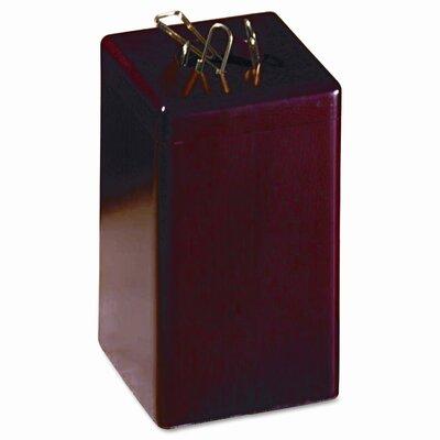 Wood Tones Paper Clip Holder, Wood, 2 1/8w x 2 1/8d x 3 1/2h, Mahogany ROL23370