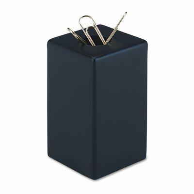 Wood Tones Paper Clip Holder, Wood, 2 1/8w x 2 1/8d x 3 1/2h, Black ROL62541