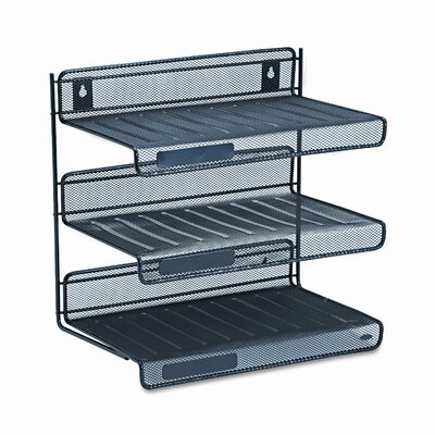 Rolodex Mesh 3-Tier Letter Size Desk Shelf