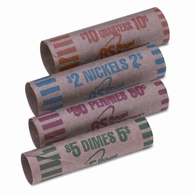 RSVFSW216N Preformed Tubular Coin Wrappers, 216/Box