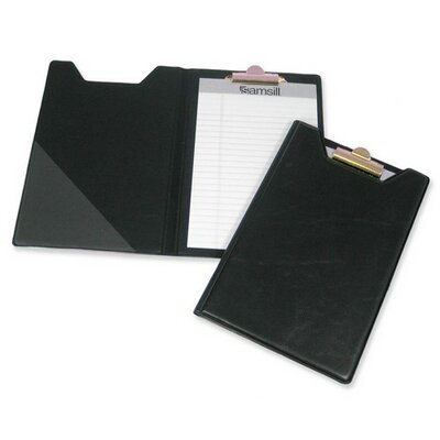 Pad Holder, w/ Clip, Inside Pocket, 8-1/2x5-1/2, Black