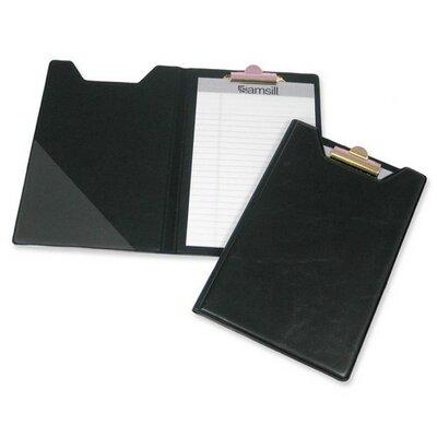 Pad Holder, w/ Clip, Inside Pocket, 8-1/2x5-1/2, Black