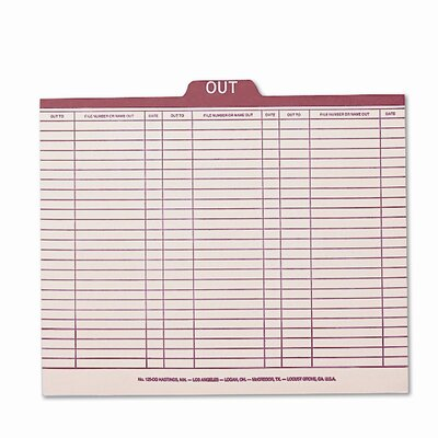 Charge-Out Record Guides, Letter, 100/Box