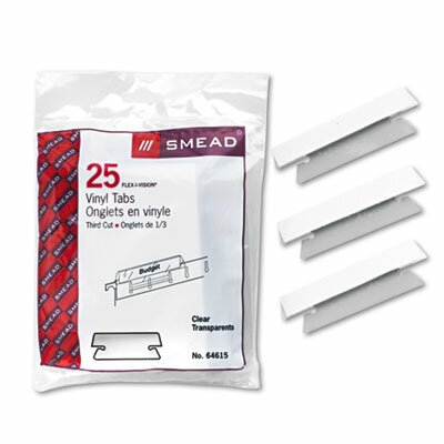 Hanging File Tab/Insert, 25/Pack (Set of 3) Color: Clear