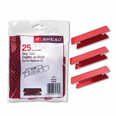 Hanging File Tab/Insert, 25/Pack (Set of 3) Color: Red